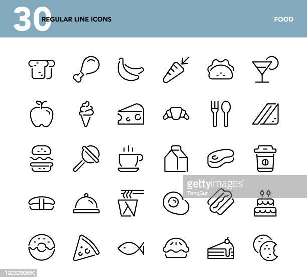 Food - Regular Line Icons