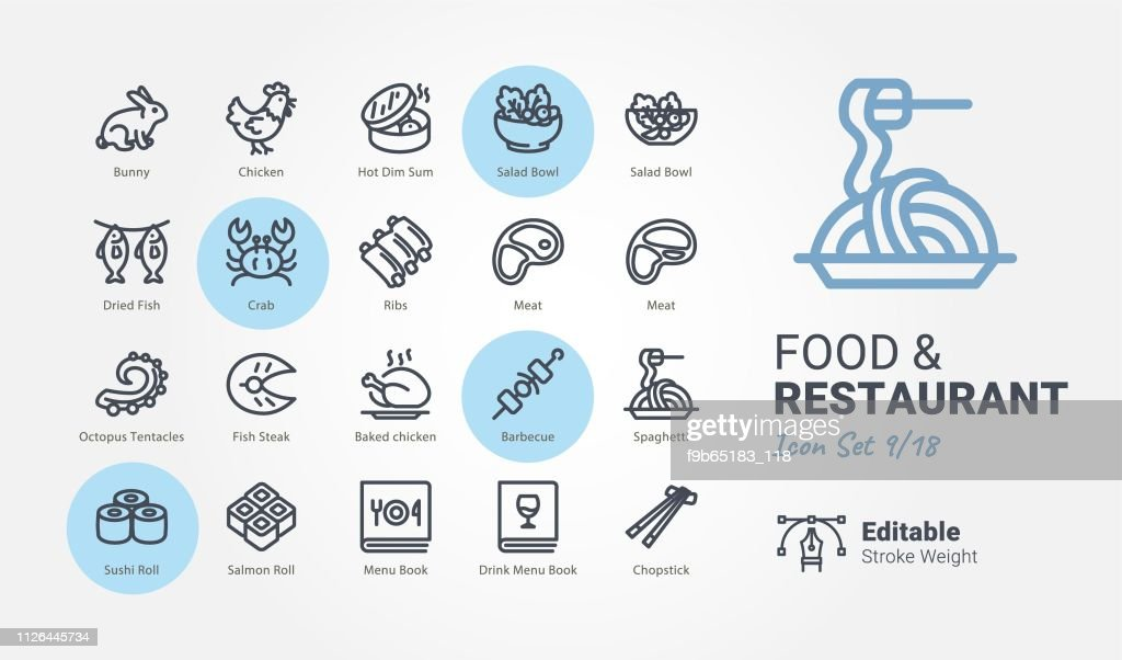 Food & Restaurant vector icons