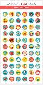 Food Round Icons