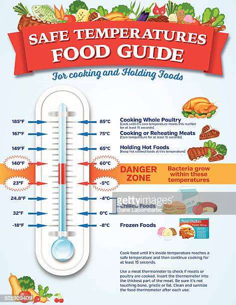 food safety guide infographic - frozen food stock illustrations