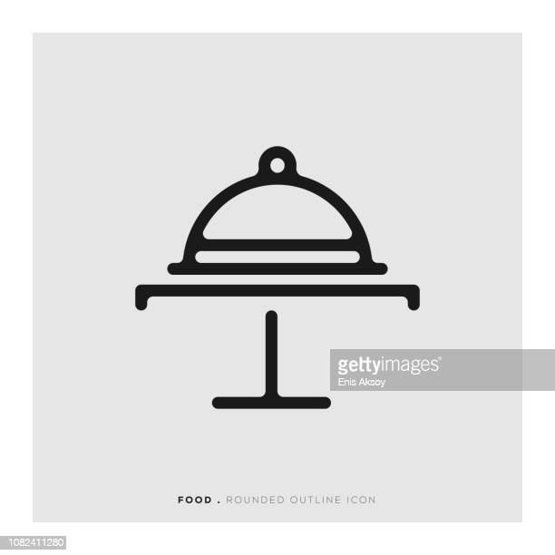 Food Service Rounded Line Icon
