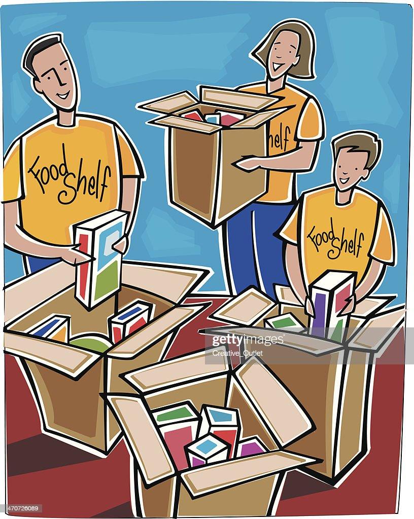 Food Shelf Boxes C