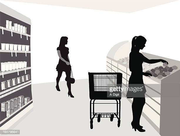 Food Shoppin' Vector Silhouette