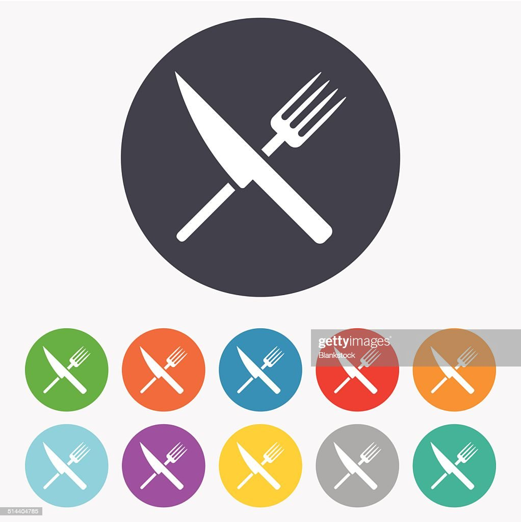 Food Sign Icon Cutlery Symbol Knife And Fork Vector Art Getty Images