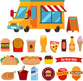 food track with food icons