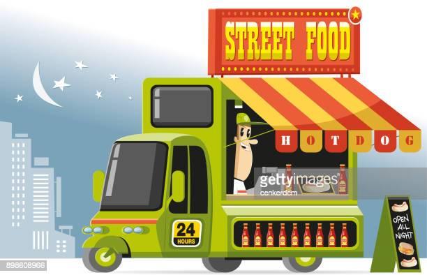 Camion de nourriture et frais personnels (vector)
