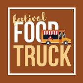Food truck festival vector illustration.