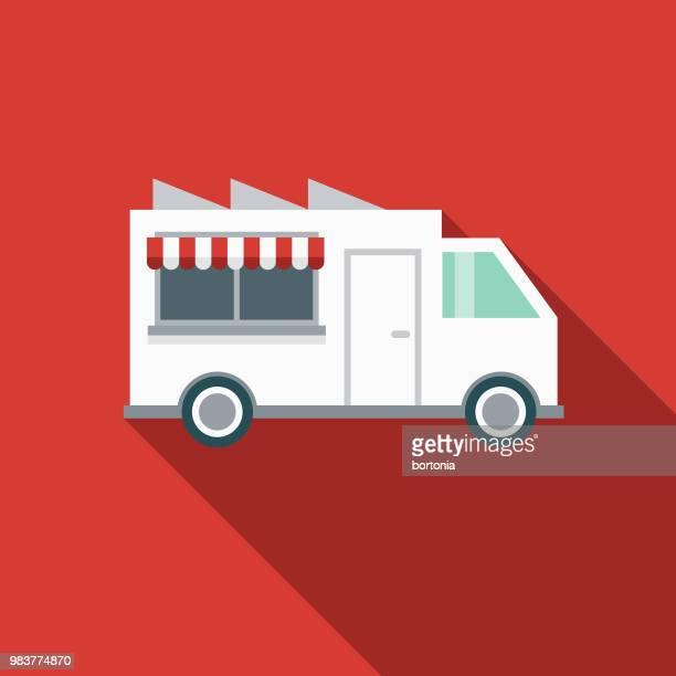 Food Truck Flat Design Transportation Icon