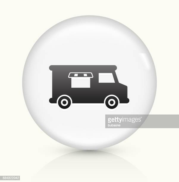 Food Truck icon on white round vector button