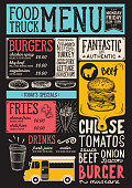 Food truck menu template.