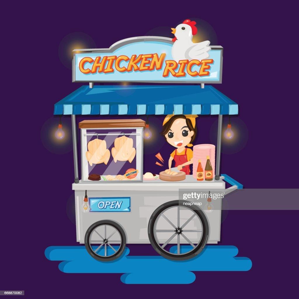 Food truck of Thai Chicken rice.