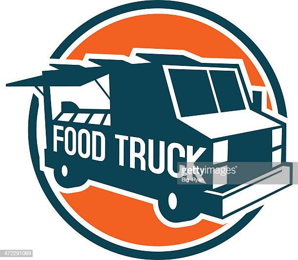 food truck text - commercial land vehicle stock illustrations