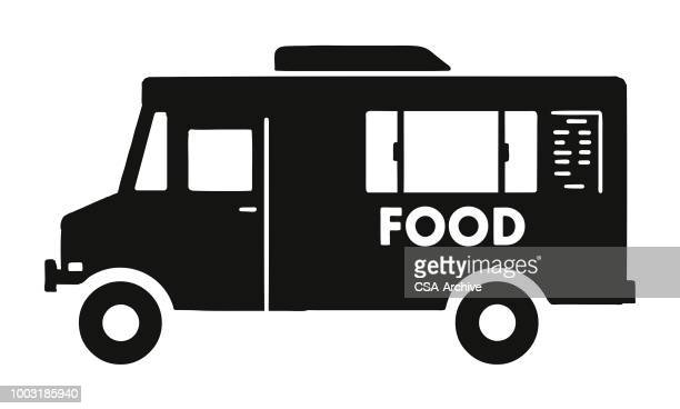 food truck - food truck stock illustrations