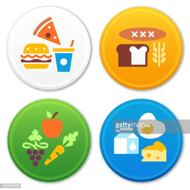 Food Types and Groups Symbols and Icons