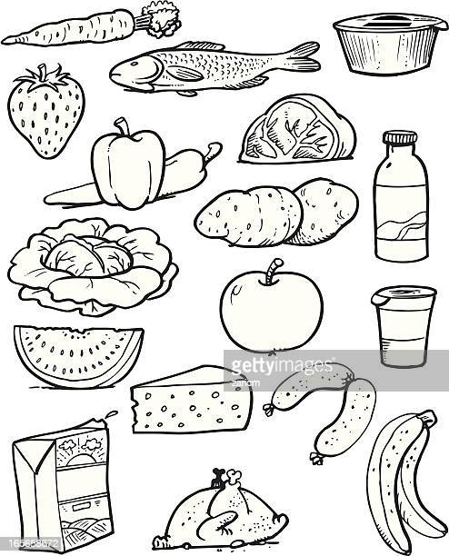 food - meat pie stock illustrations