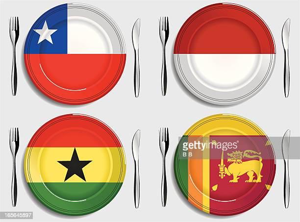 food-chile-monaco-ghana-sri lanka - ghana stock illustrations, clip art, cartoons, & icons