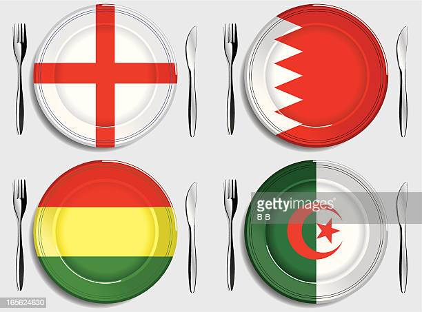 food-england-bahrain-bolivia-algeria - bahrain stock illustrations, clip art, cartoons, & icons
