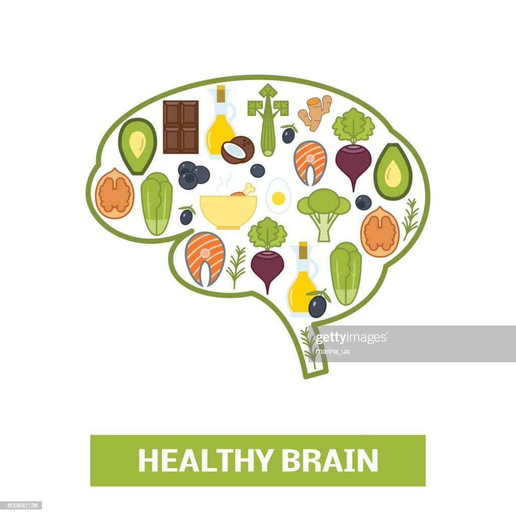 Foods in shape of human brain