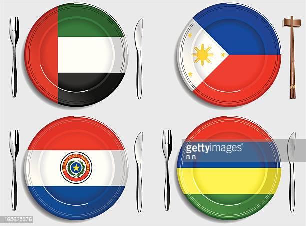 Food-United Arab Emirates-Philippines-Paraguay-Mauritius