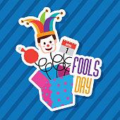 fools day greeting card