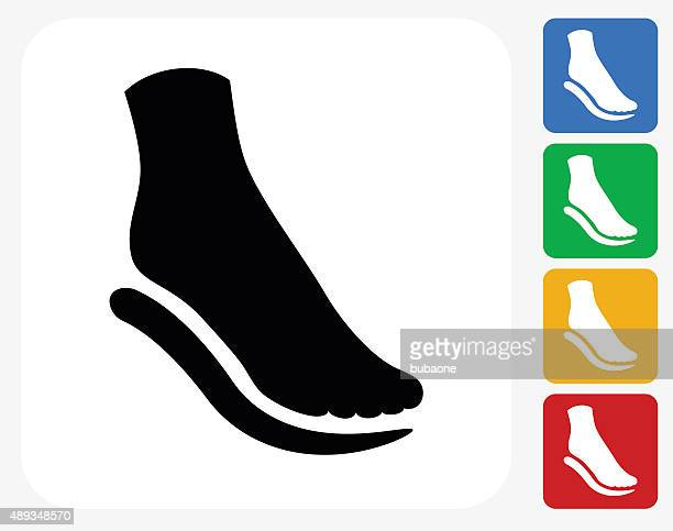 Foot and Padding Icon Flat Graphic Design