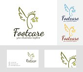 Foot Care vector logo