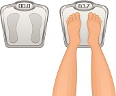 Foot on the scales