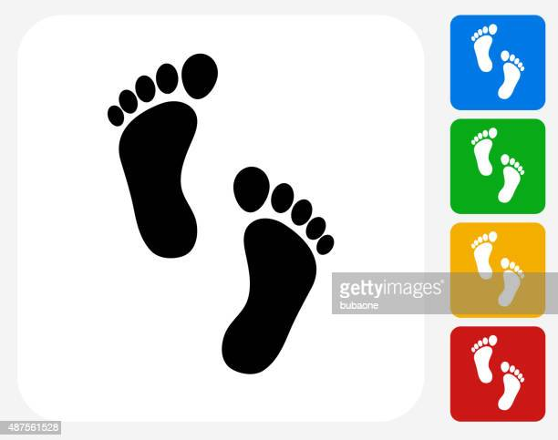 Foot Prints Icon Flat Graphic Design
