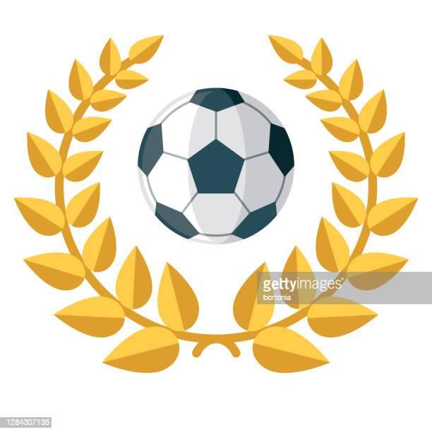 football award icon on transparent background - sports round stock illustrations