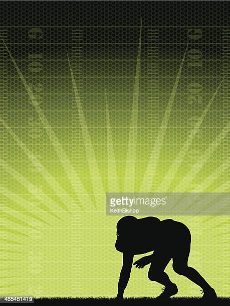 football background - defensive player - all star sportsperson stock illustrations