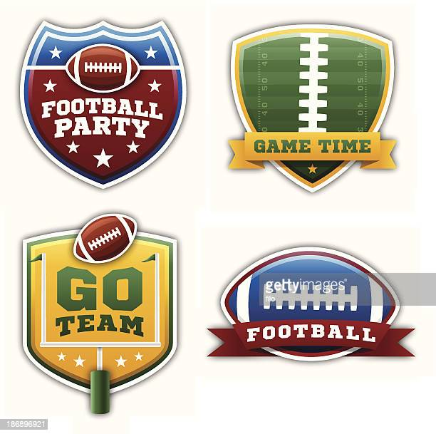 football badges and elements - drive ball sports stock illustrations, clip art, cartoons, & icons