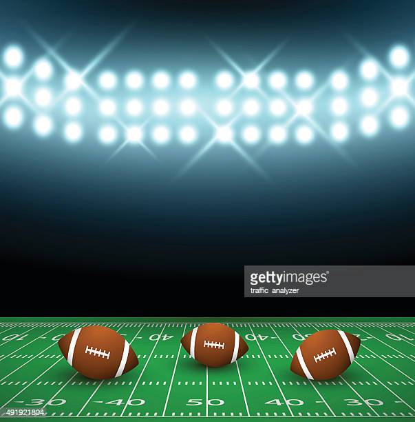 football ball on a field - safety american football player stock illustrations, clip art, cartoons, & icons