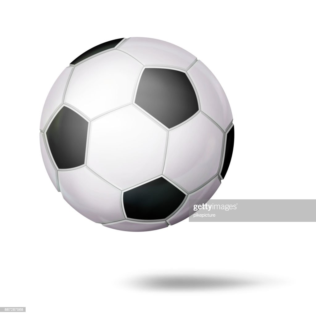 3D Football Ball Vector. Classic Soccer Ball. Illustration