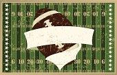 Football Banner Background - Grunge Graphic
