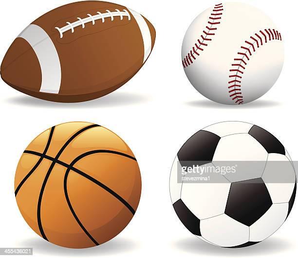 football, baseball, basketball, soccer ball - sports organization stock illustrations, clip art, cartoons, & icons
