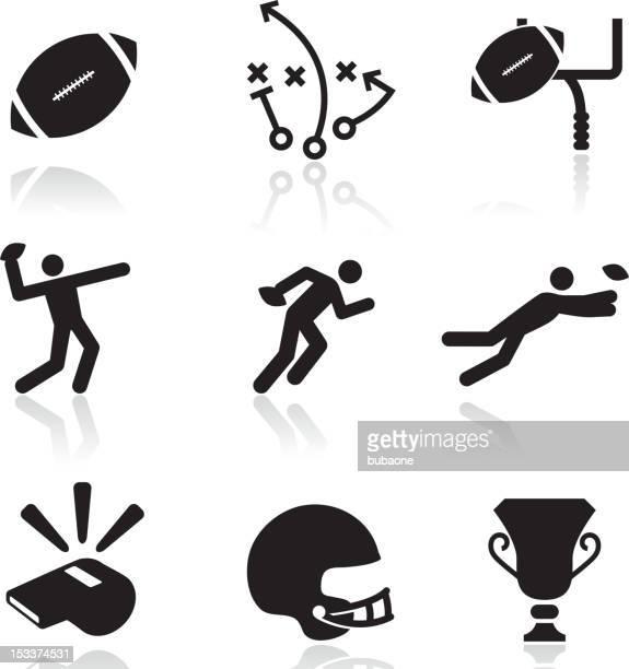 Football black and white royalty free vector arts