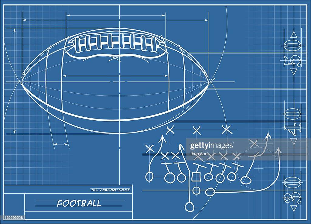 Football Blueprint : stock illustration