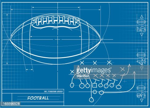 Football blueprint vector art getty images malvernweather Image collections