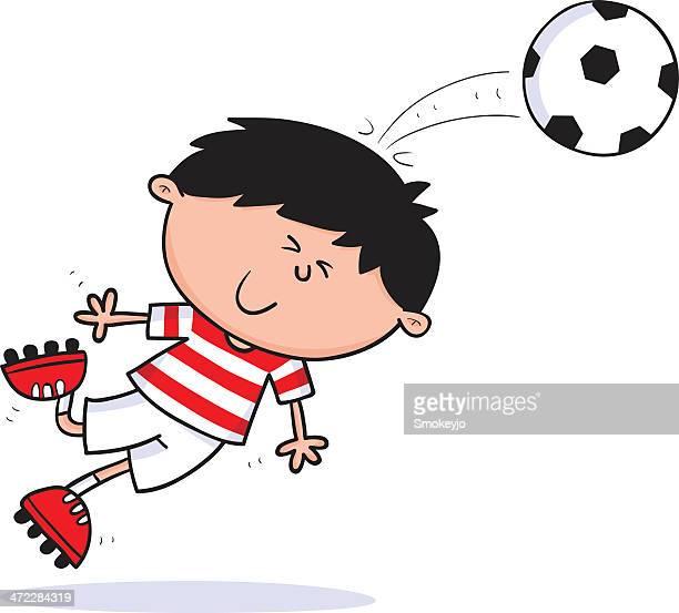 ilustraciones, imágenes clip art, dibujos animados e iconos de stock de niño de fútbol - marcar términos deportivos