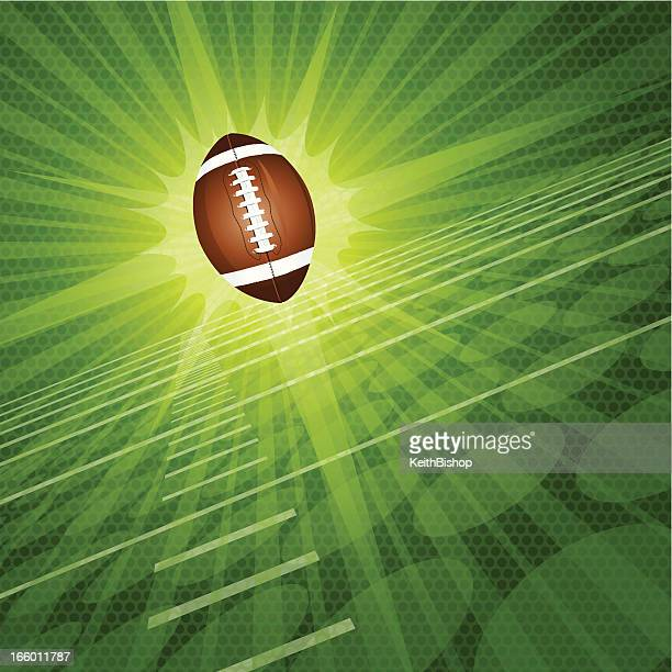 Football Burst Background Graphic
