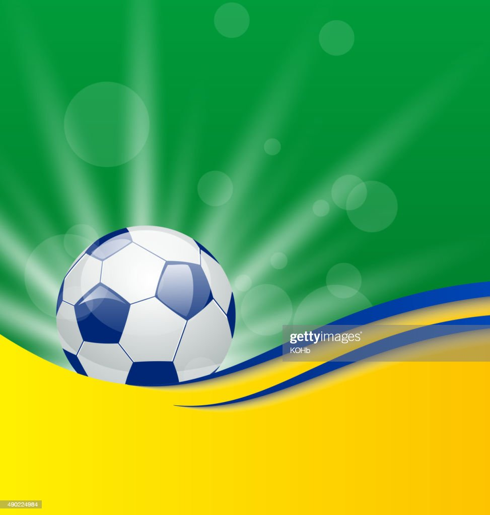 Football card in Brazil flag colors
