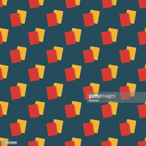 football cards pattern - yellow card sport symbol stock illustrations