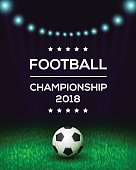 Football championship poster, flyer, banner template