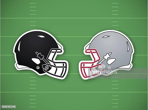 football competition background - football helmet stock illustrations