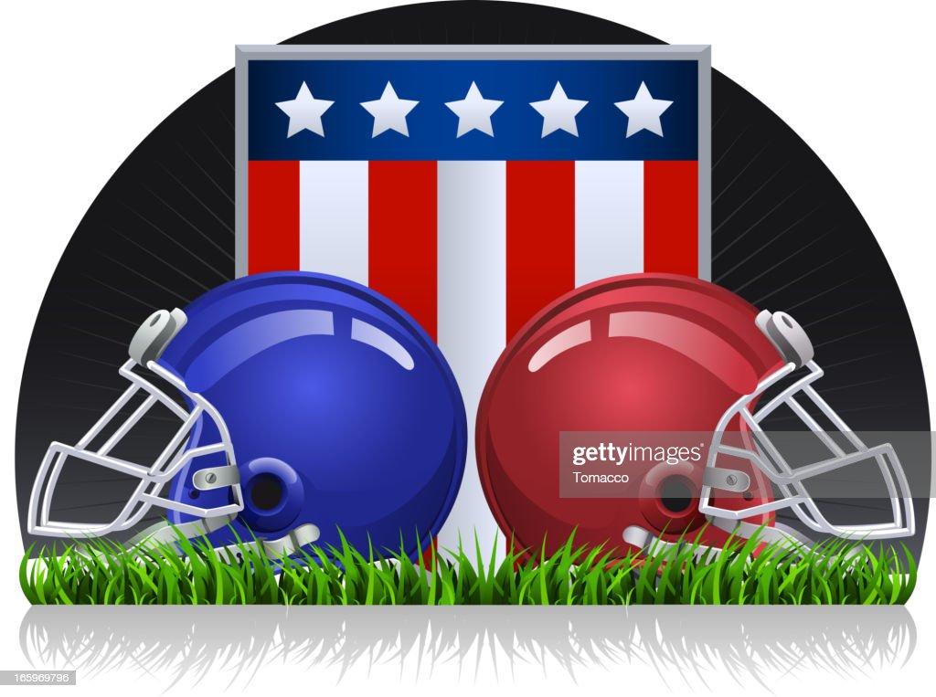 Football dark grass