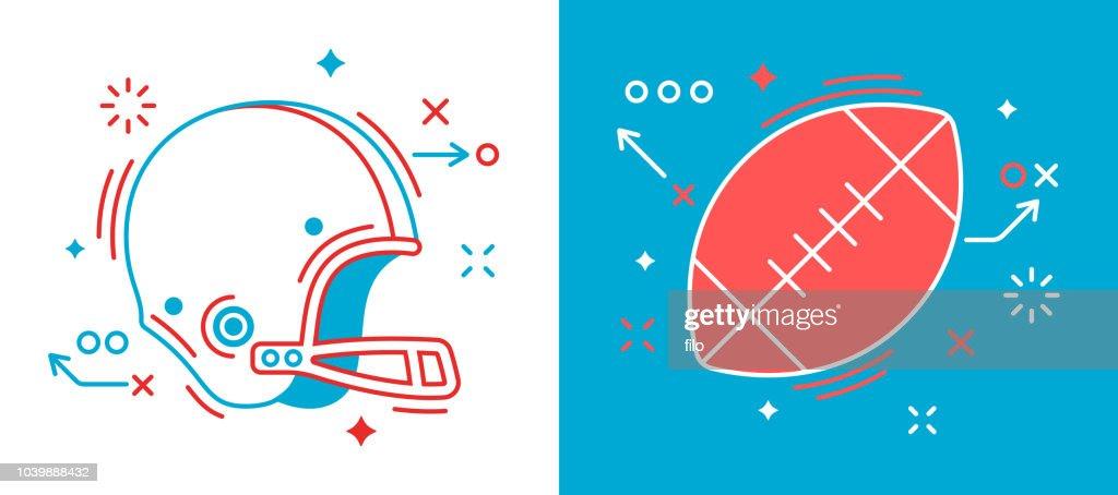 Football Design Elements : Stock Illustration