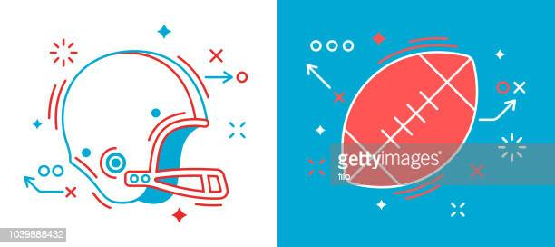 football design elements - american football sport stock illustrations
