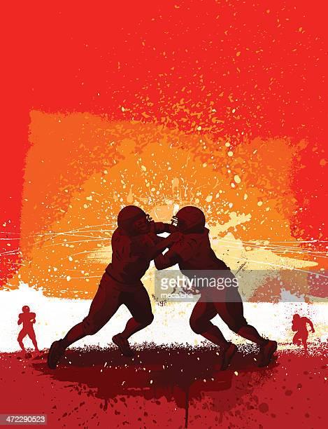 football design - rush american football stock illustrations