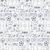 Football Dodle Seamless Pattern