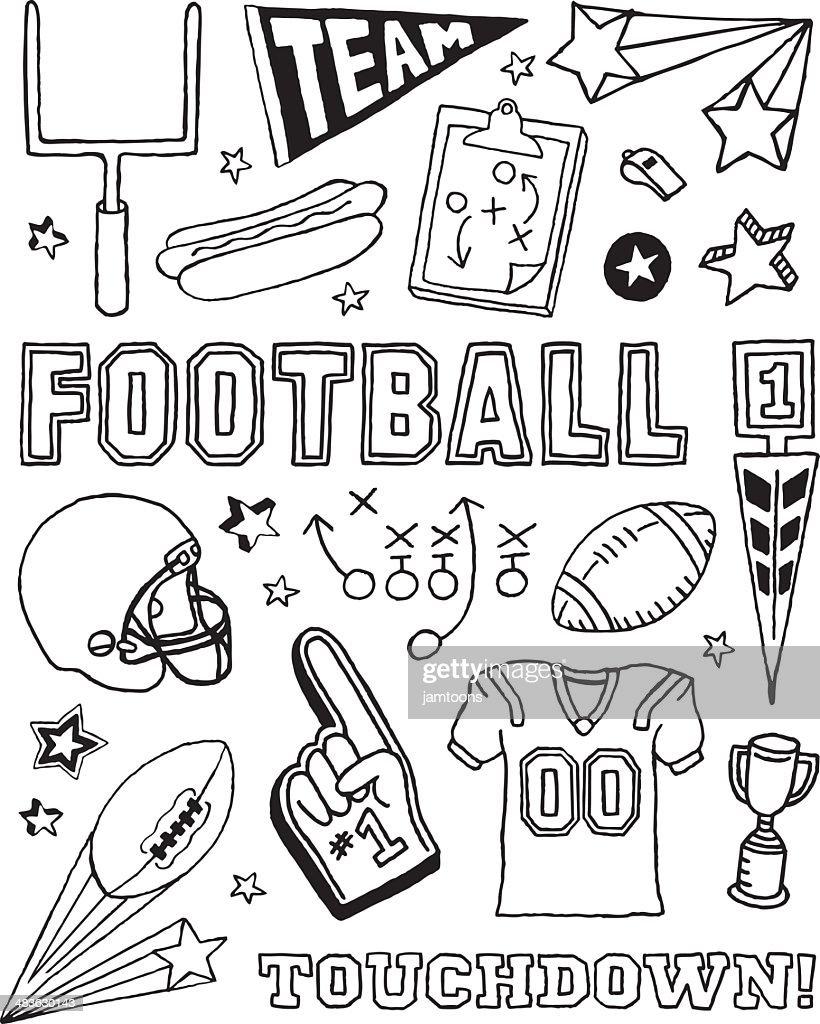 Football Doodles : stock illustration